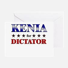KENIA for dictator Greeting Card
