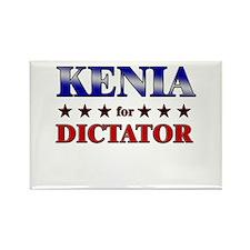 KENIA for dictator Rectangle Magnet