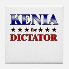 KENIA for dictator Tile Coaster