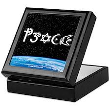 Peace-OM on earth at nite Keepsake Box