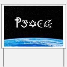 Peace-OM on earth at nite Yard Sign