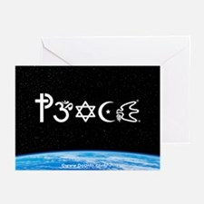 Peace-OM on earth at nite Greeting Cards (Pk of 20