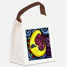 Swirly Blue Moon Canvas Lunch Bag