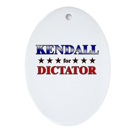 KENDALL for dictator Oval Ornament
