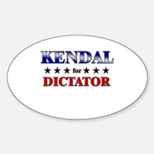 KENDAL for dictator Oval Decal