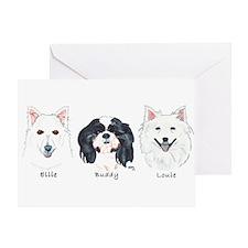 Ellie Buddy Louie Greeting Card