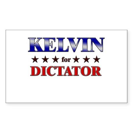 KELVIN for dictator Rectangle Sticker