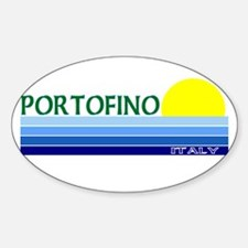 Portofino, Italy Oval Decal
