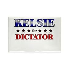KELSIE for dictator Rectangle Magnet