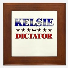 KELSIE for dictator Framed Tile