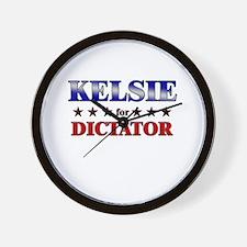 KELSIE for dictator Wall Clock