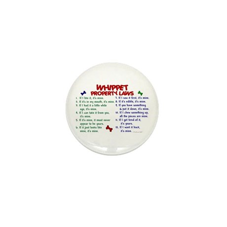 Whippet Property Laws 2 Mini Button (10 pack)