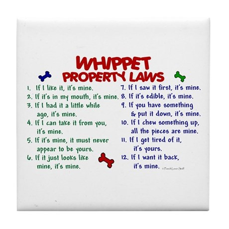 Whippet Property Laws 2 Tile Coaster