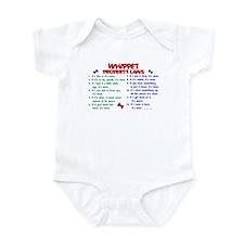 Whippet Property Laws 2 Infant Bodysuit