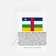 Central African Republic Greeting Card