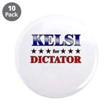 "KELSI for dictator 3.5"" Button (10 pack)"