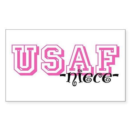 USAF Niece - Jersey Style Rectangle Sticker
