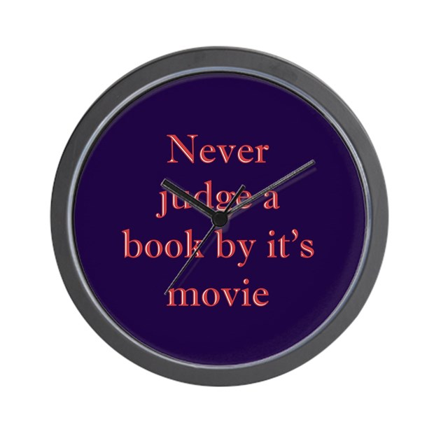 never judge a book by it 39 s movie wall clock by shinygear