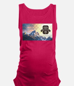 God is Larger than the Mountain Maternity Tank Top