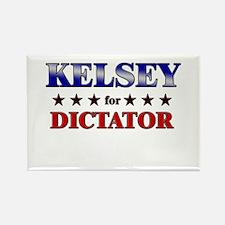KELSEY for dictator Rectangle Magnet
