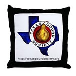 Texas Gourd Society Logo Throw Pillow