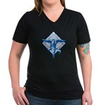Peace, Love and Joy Women's V-Neck Dark T-Shirt