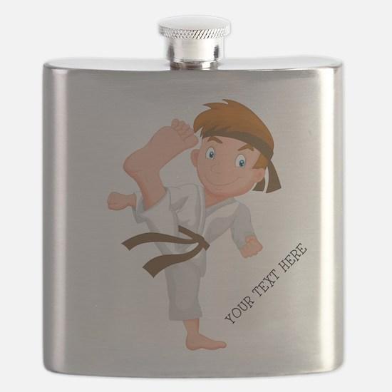 PERSONALIZED KARATE BOY Flask