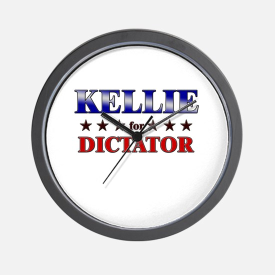 KELLIE for dictator Wall Clock
