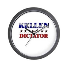 KELLEN for dictator Wall Clock