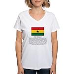 Ghana Women's V-Neck T-Shirt
