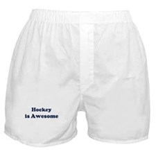 Hockey is Awesome Boxer Shorts