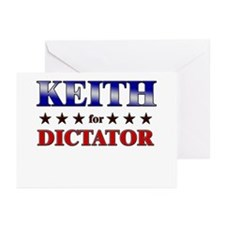 KEITH for dictator Greeting Cards (Pk of 10)