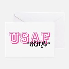 USAF Aunt - Jersey Style Greeting Cards (Pk of 10)