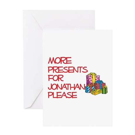 More Presents For Jonathan Greeting Card