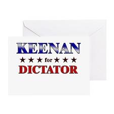 KEENAN for dictator Greeting Card
