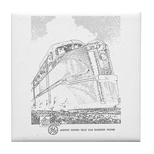 1941 Rock Island Locomotives Tile Coaster