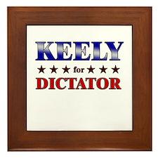 KEELY for dictator Framed Tile