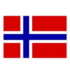 Norwegian Flag Postcards (Package of 8)