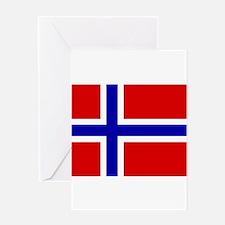 Norwegian Flag Greeting Card