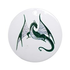 Green Dragon Ornament (Round)