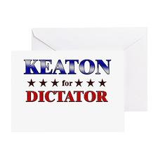 KEATON for dictator Greeting Card
