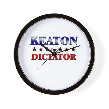 KEATON for dictator Wall Clock