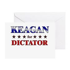 KEAGAN for dictator Greeting Card