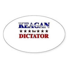 KEAGAN for dictator Oval Decal