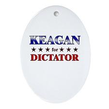 KEAGAN for dictator Oval Ornament
