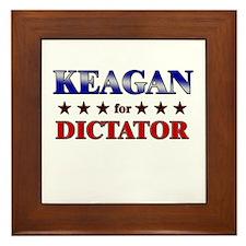 KEAGAN for dictator Framed Tile