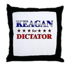 KEAGAN for dictator Throw Pillow