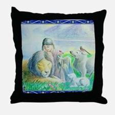 Funny Wolf girl Throw Pillow