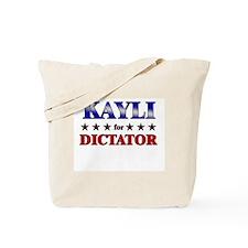 KAYLI for dictator Tote Bag