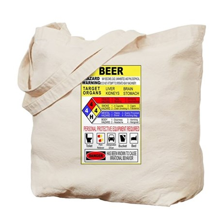 Beer Hazardous Material Tote Bag